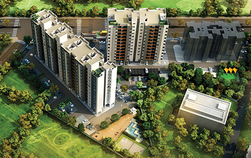3 BHK flat for sale in  Vilas Javdekars YashONE - Phase 1